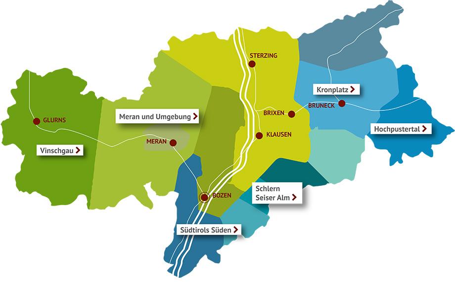 landkarte südtirol Campingplätze Südtirol: Wählen Sie aus der Liste! landkarte südtirol